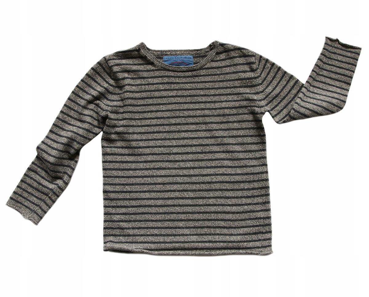 Zara - lekki sweterek paski 3-4 98-104 cm