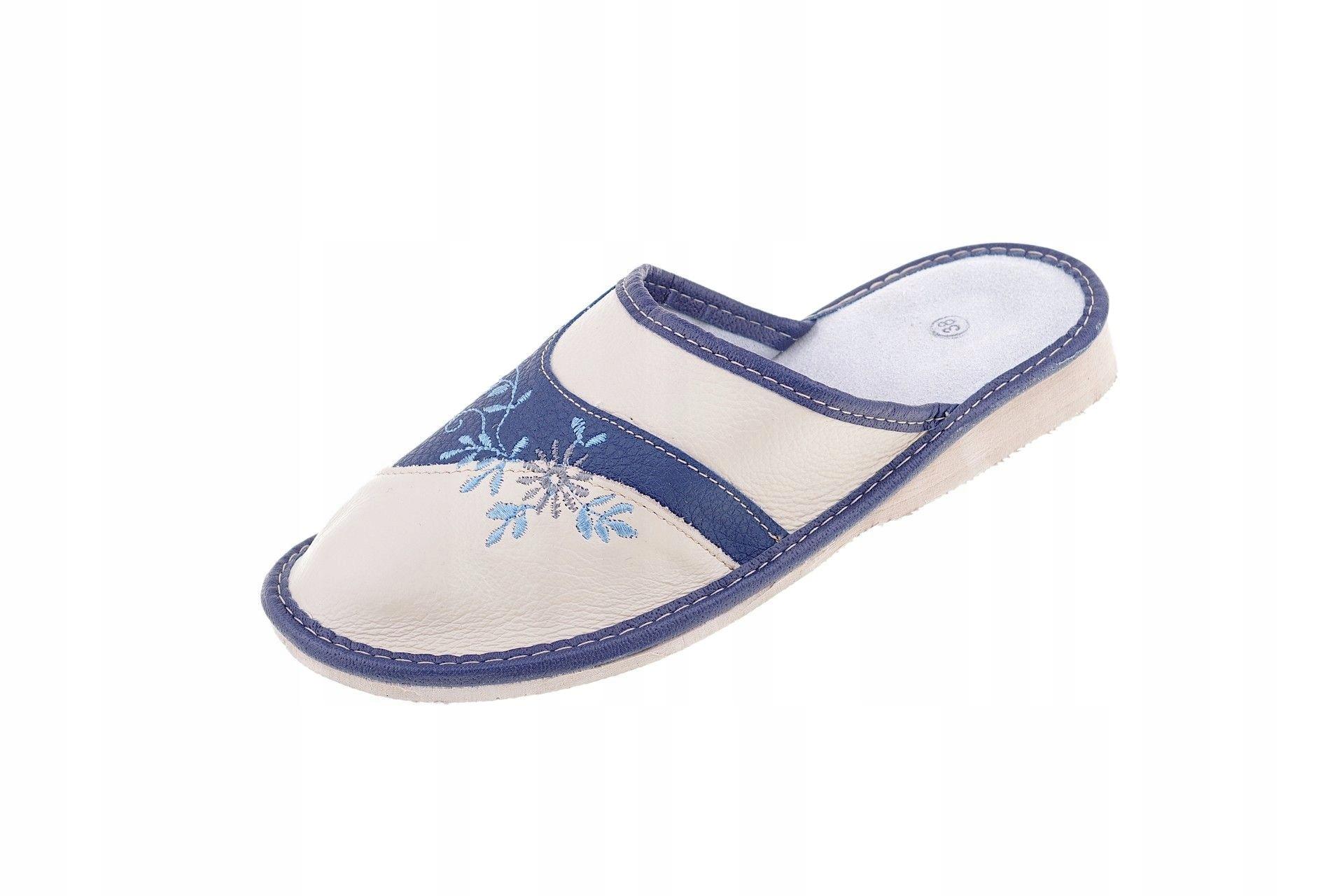 Pantofle skórzane zakryte kapcie kryte palce r. 37 - 7392233967 ... 9c424ab3a8