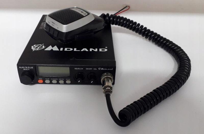 CB RADIO MIDLAND ALAN 78 PLUS MULTI B + ANTENA
