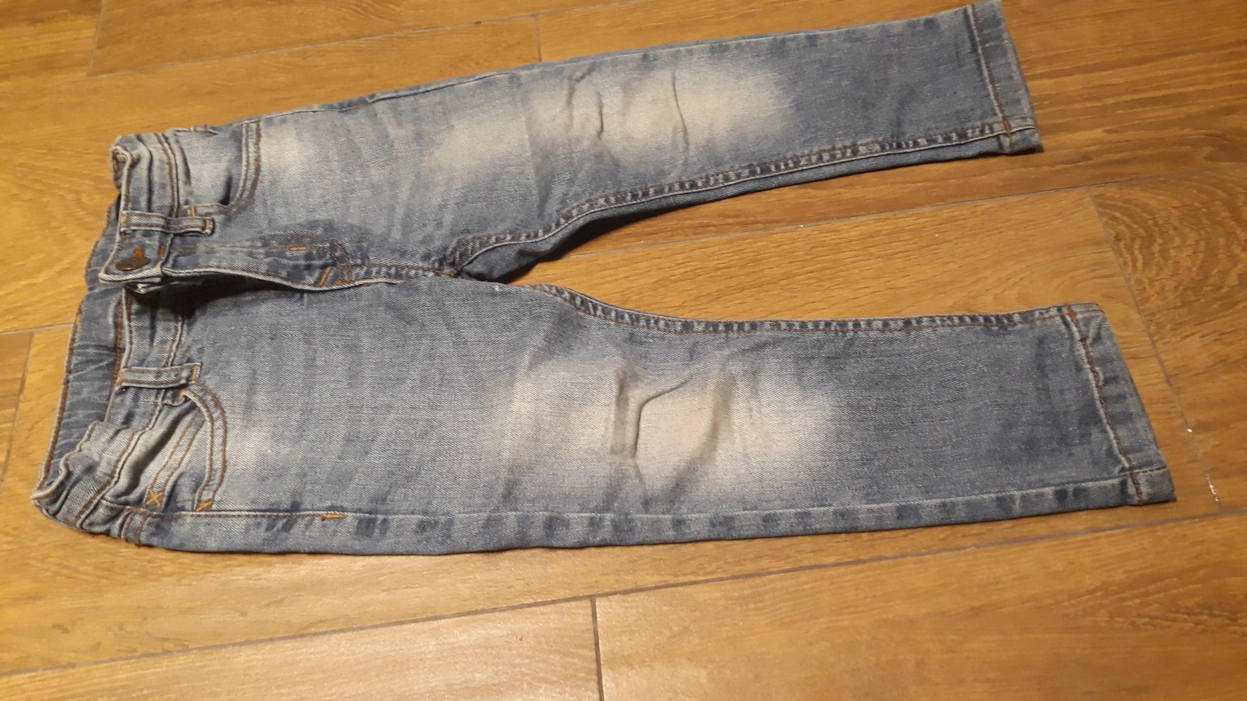 JEANSY rurki spodnie ZARA 104