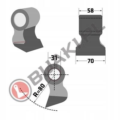 Bijak SEP-51 rozdrabniacza mulczera Seppi F.A.E.