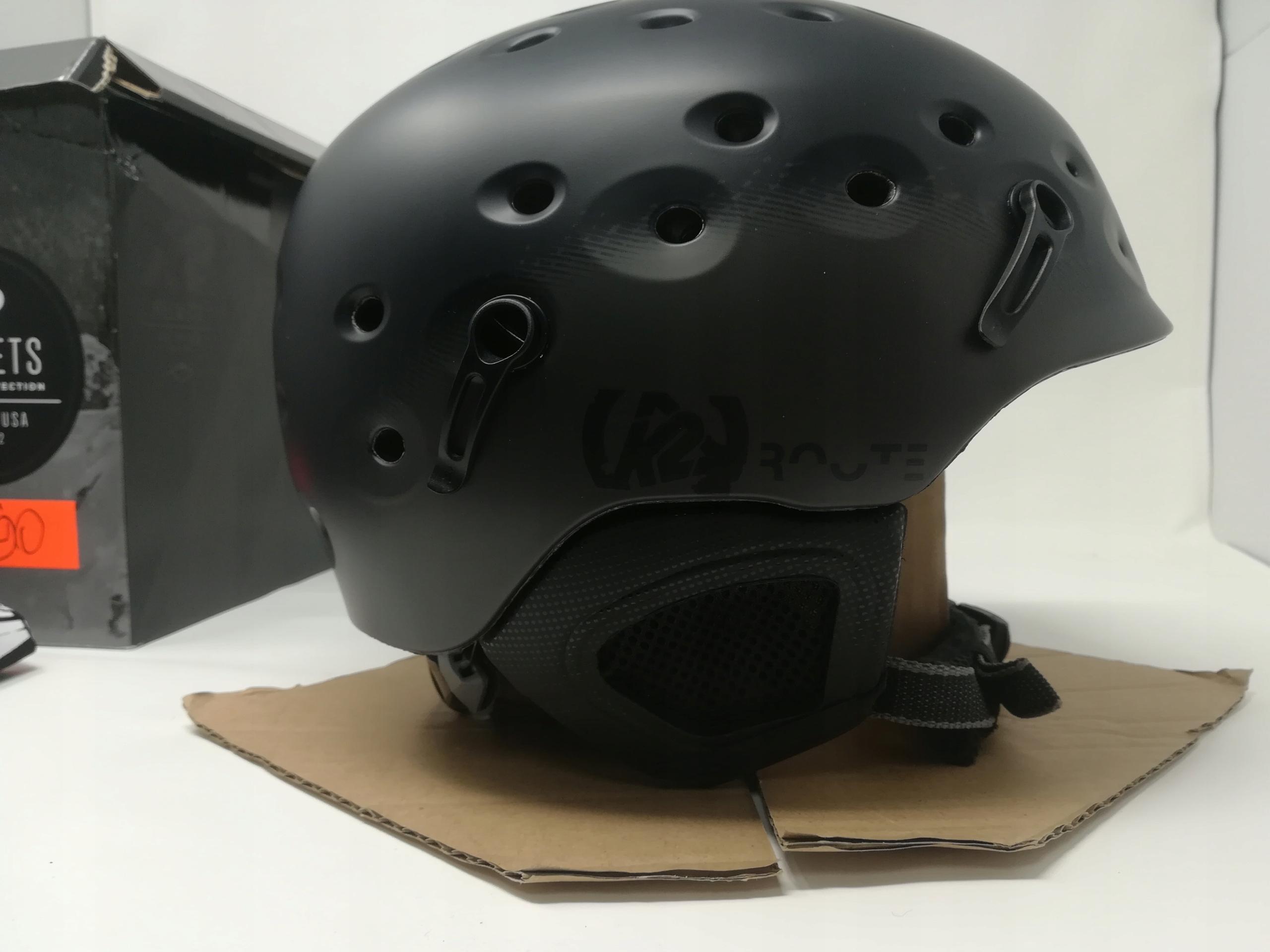 K2 ROUTE BLACK M ( 55 - 59 cm ) KASK NARCIARSKI