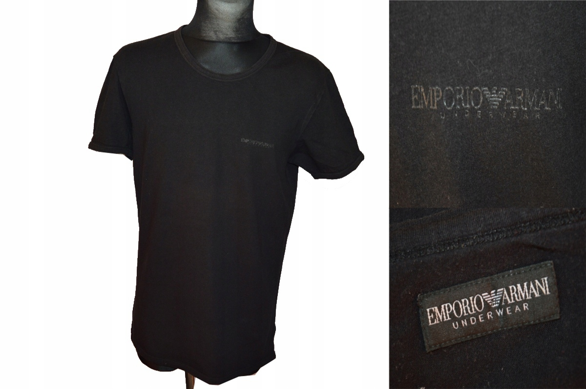 EMPORIO ARMANI SUPER T-SHIRT XL BLACK !!!
