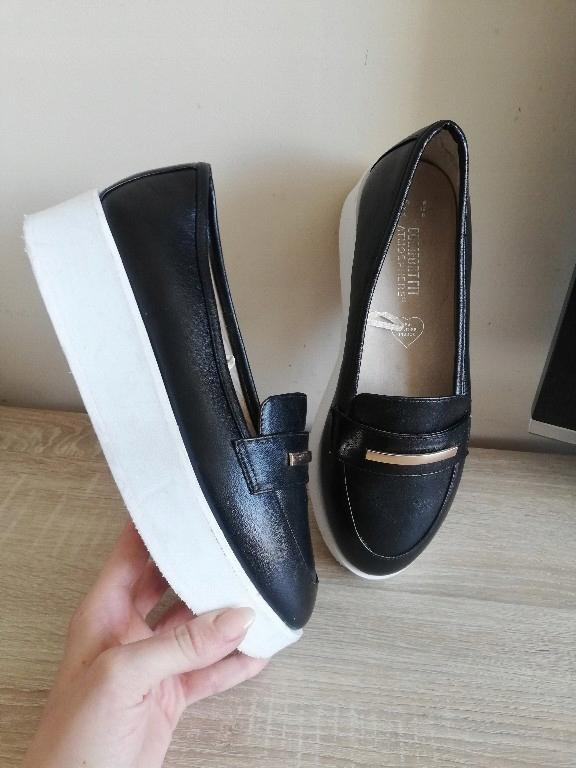 buty 39 biało czarne espadryle eleganckie j zara