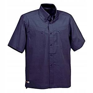 587F166 Koszula robocza Hawaii, granatowa S Cofra