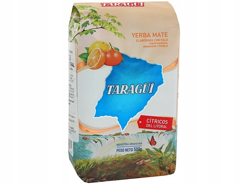 YERBA MATE 500g TARAGUI CITRICOS DEL LITORAL 0,5kg