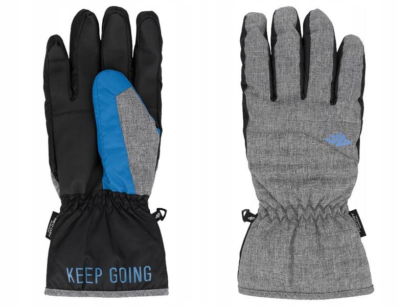 Rękawiczki narciarskie męskie REM001 4F szare XL