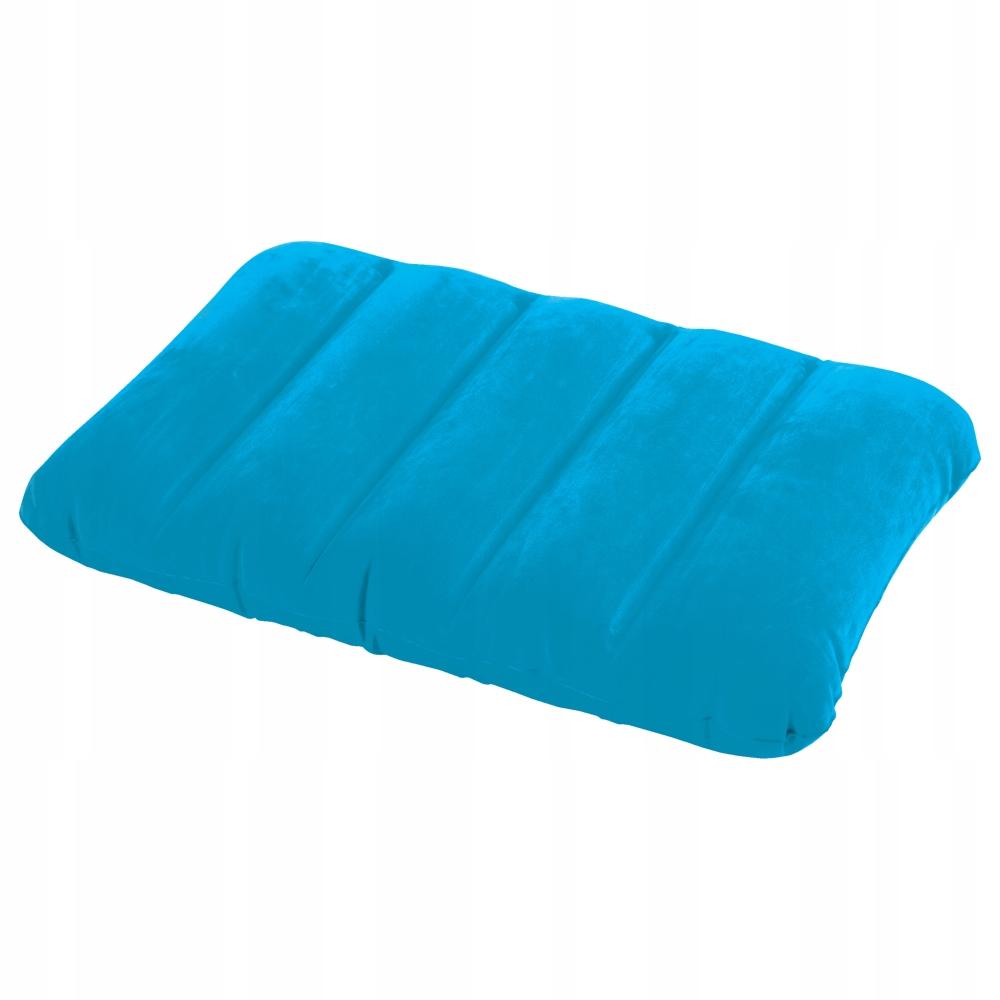 Dmuchana poduszka welurowa niebieska INTEX 68676
