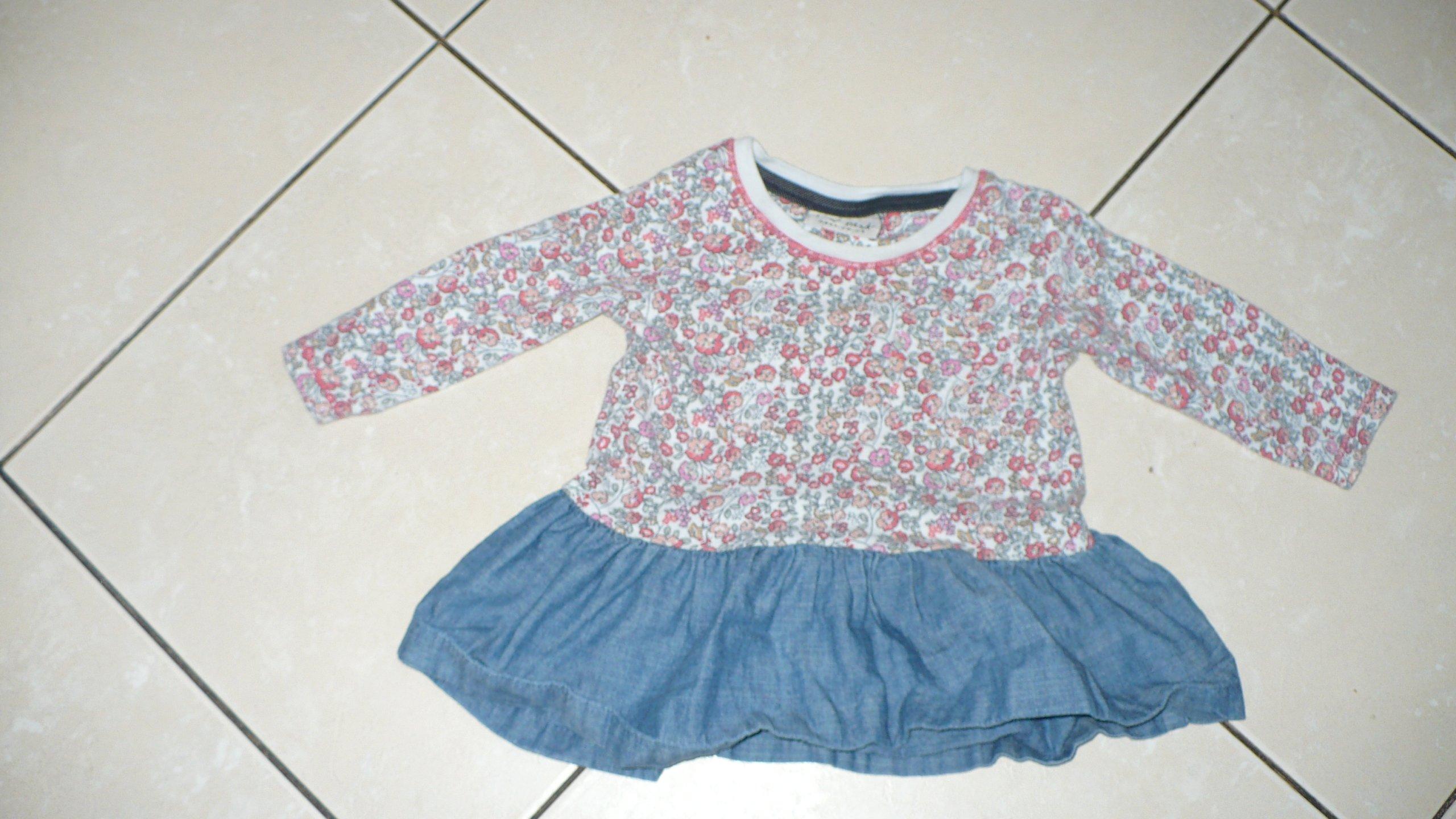 Bluzka sukienka tunika 3-6 mies 68 cm