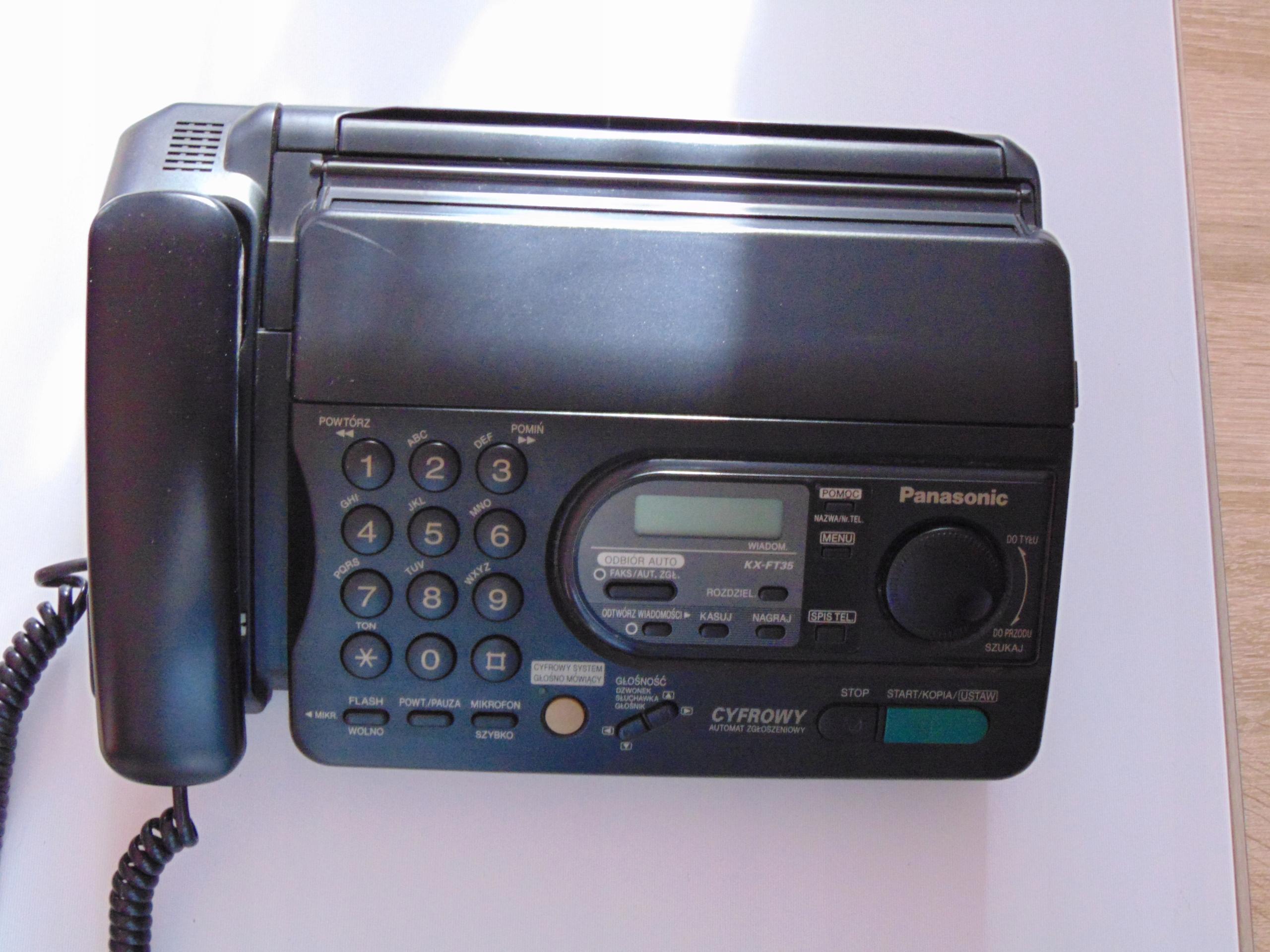 Fax cyfrowy Panasonic KX-FT35PD.