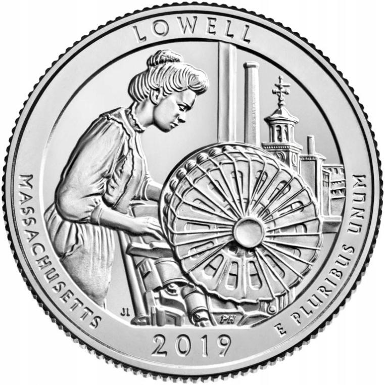 USA -2019- 25 Centów - LOWELL - Nr46 PARKI USA
