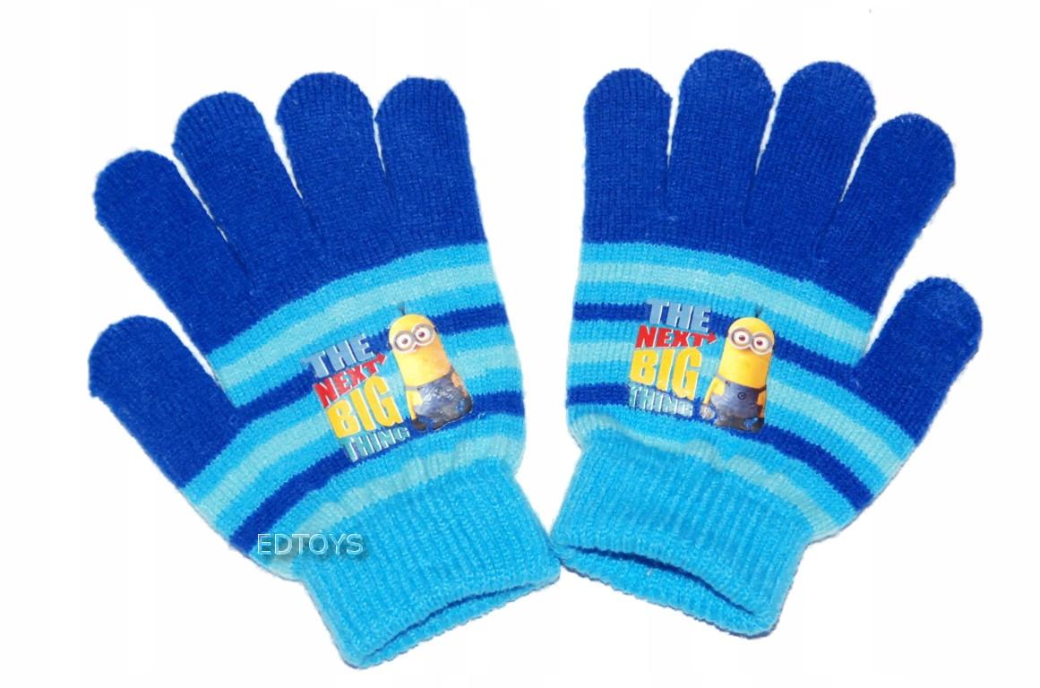 Rękawiczki zimowe akryl Disney 4-7lat MINIONKI W3
