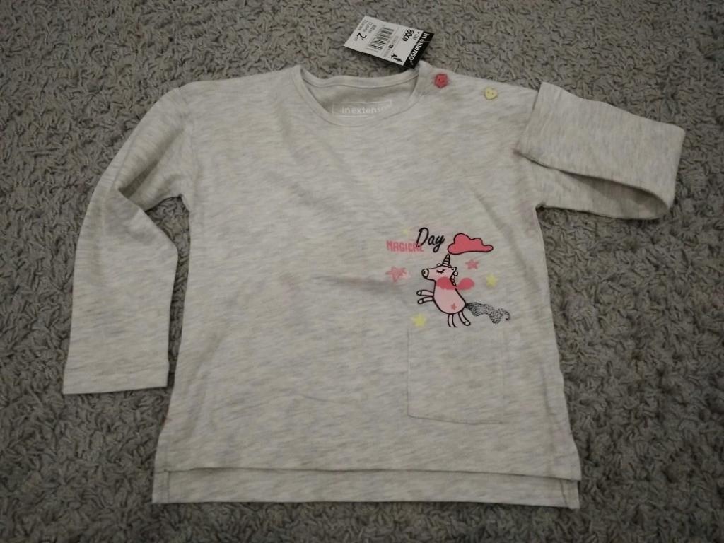 In Extenso - szara koszulka t-shirt r.80 NOWA