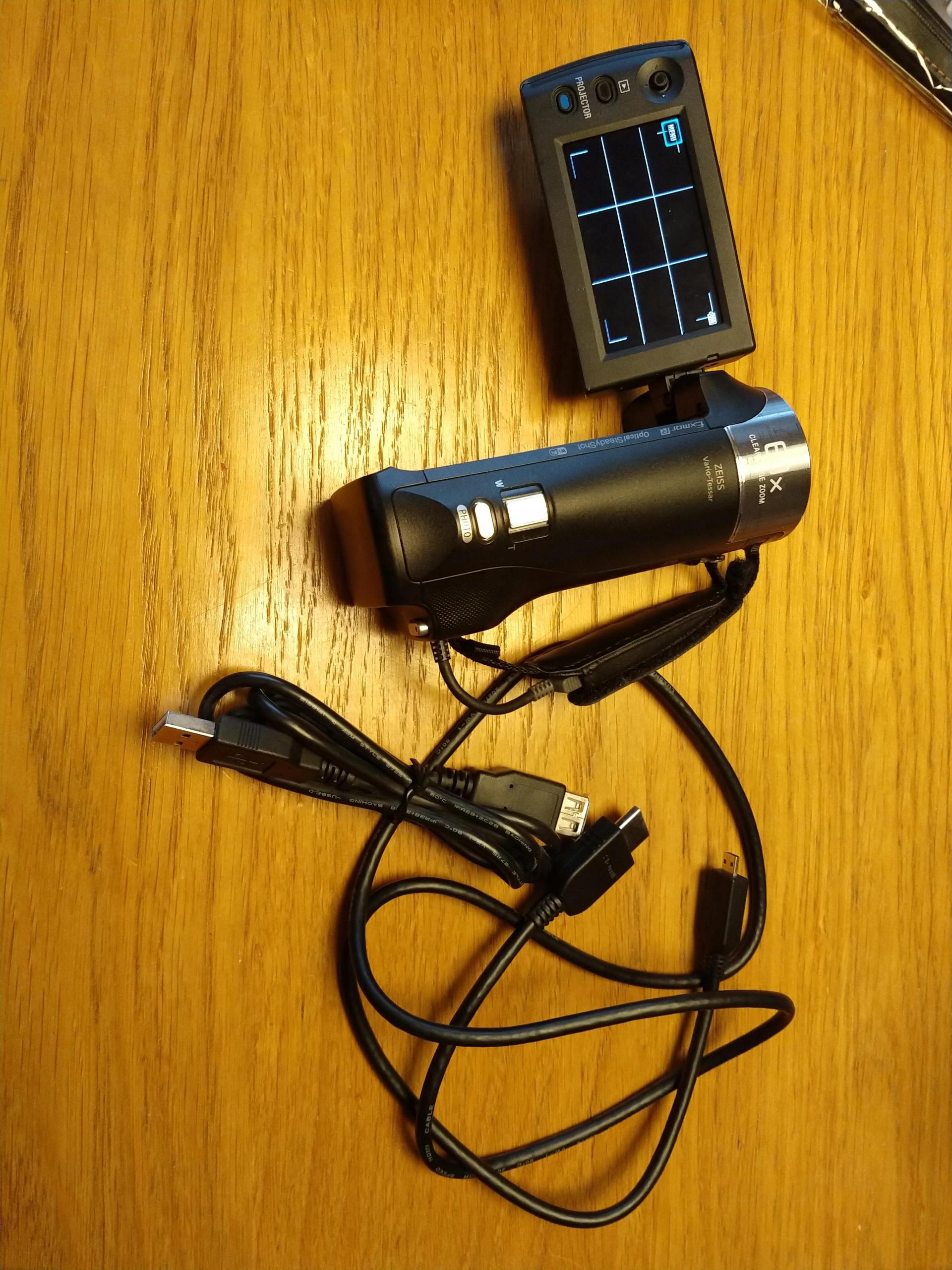 Kamera Sony HDR-PJ410: z wbudowanym projektorem