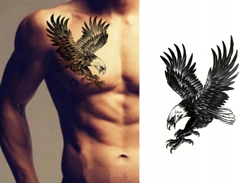 Tatuaż Zmywalny Henna Orzeł Ptak Tymczasowy