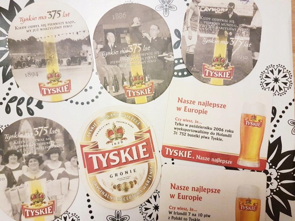 Podkładki pod piwo ok85szt HEINEKEN Tyskie Martini