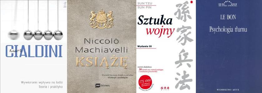 Machiavelli +Psychologia tłumu + Cialdini+ Sun Tzu