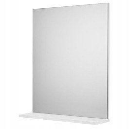 Lustro z półką łazienkowe 50x60cm proste prostokąt