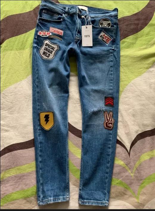 Skinny Jeans ZARA MAN roz. EUR 42 *styl '90