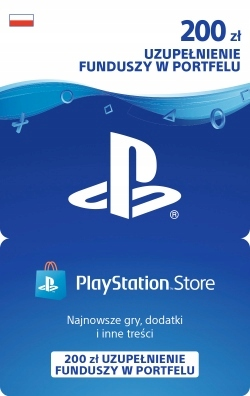 PLAYSTATION NETWORK STORE PSN 200ZŁ PS3 PS4 KOD