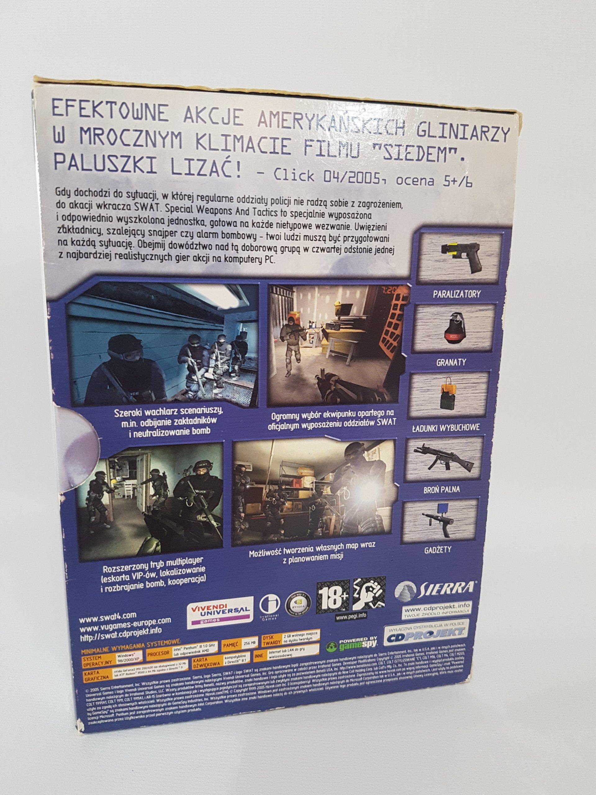 3a8b57aed0 SWAT 4 premierowe polskie PL - 7260856693 - oficjalne archiwum allegro