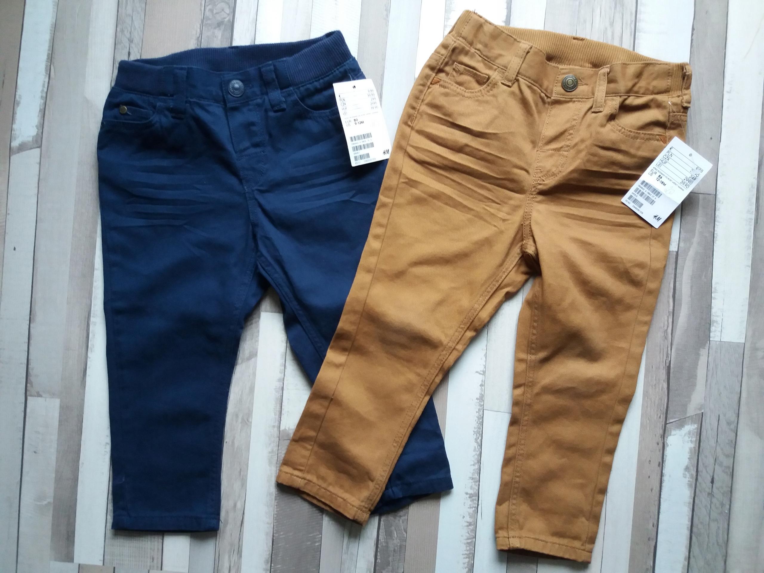 NOWE 2 pary spodnie marki h&m r. 80 i r.86