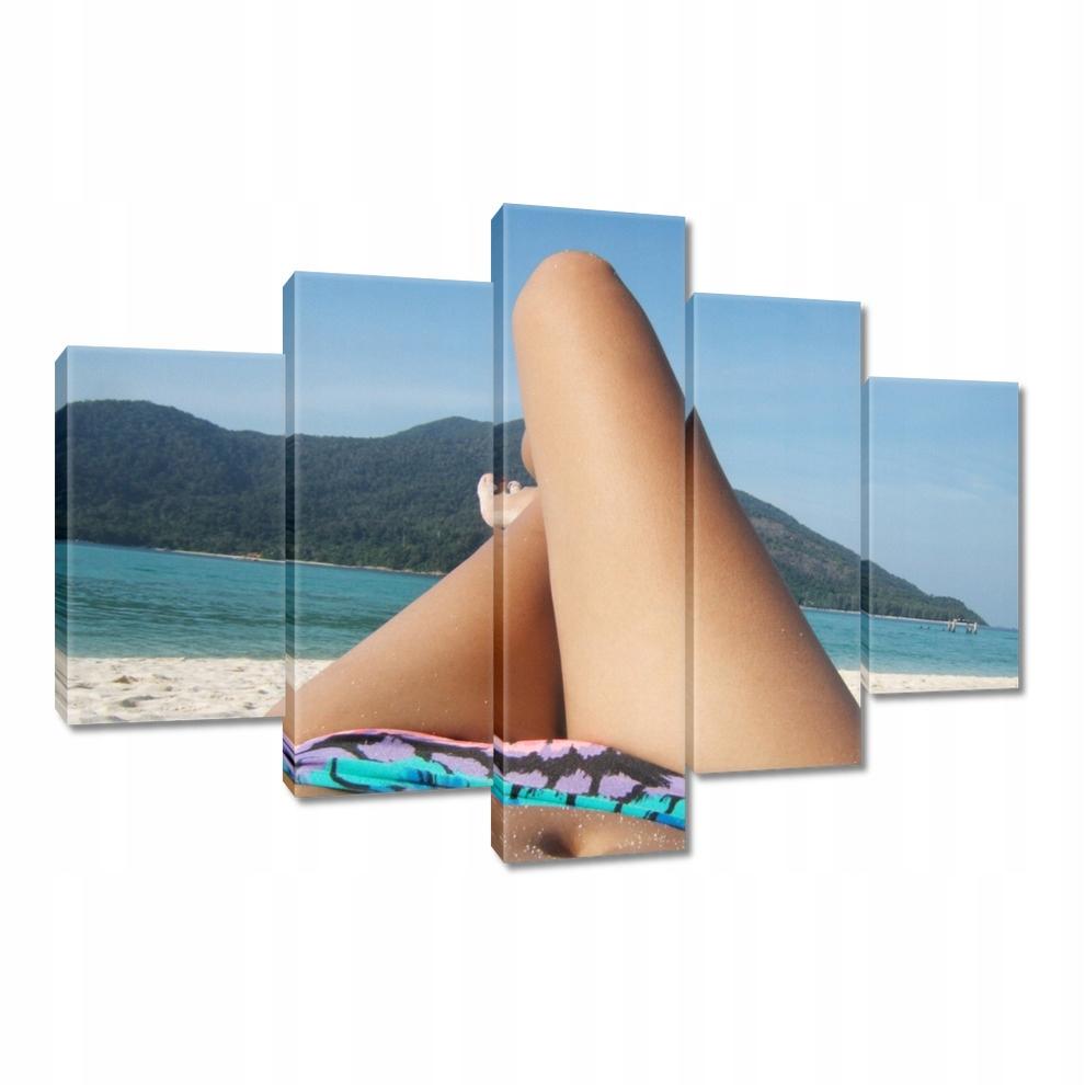 Obrazy na płótnie 150x105 Plażowanie w bikini