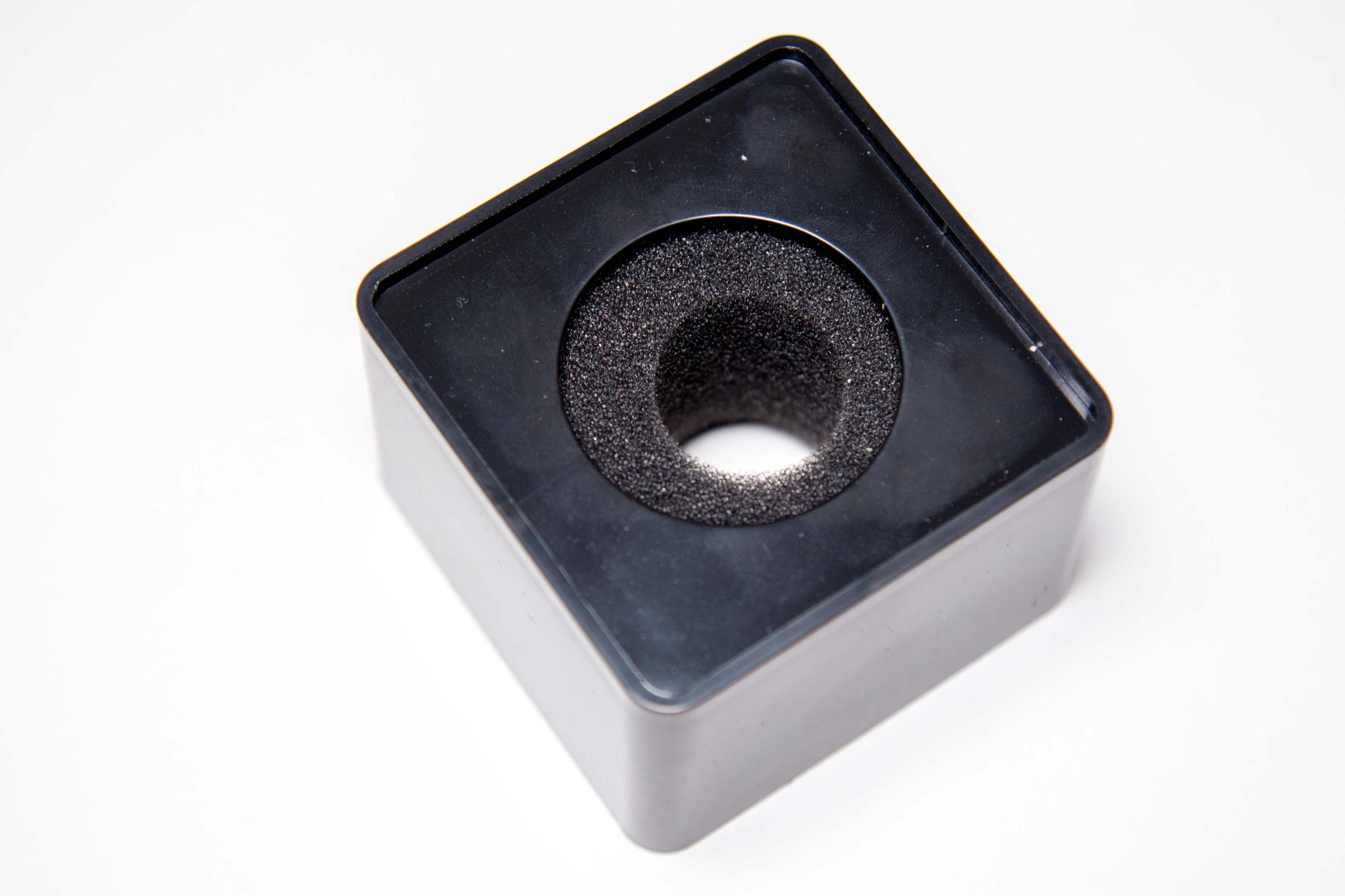 Kostka mikrofonowa | nakładka - kwadratowa czarna
