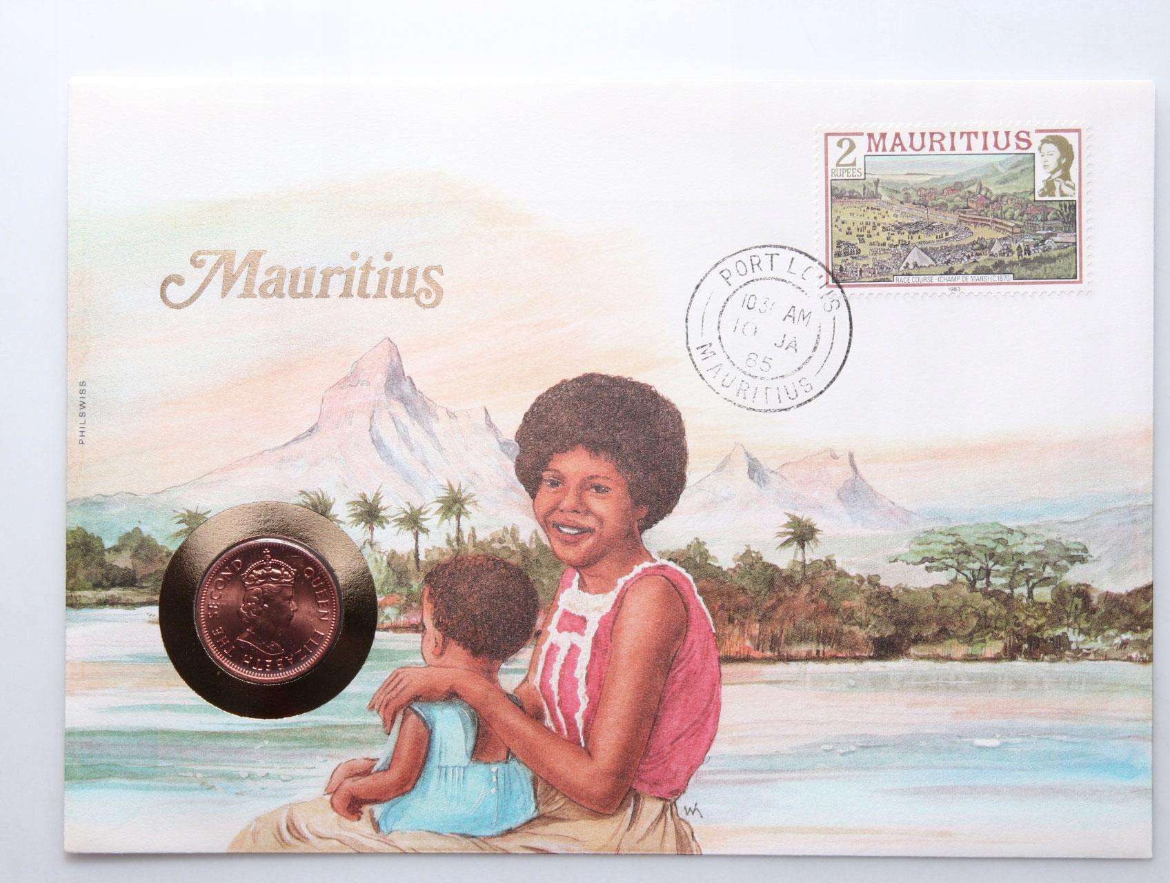 WO - LIST NUMIZMATYCZNY - Mauritius +certyfikat