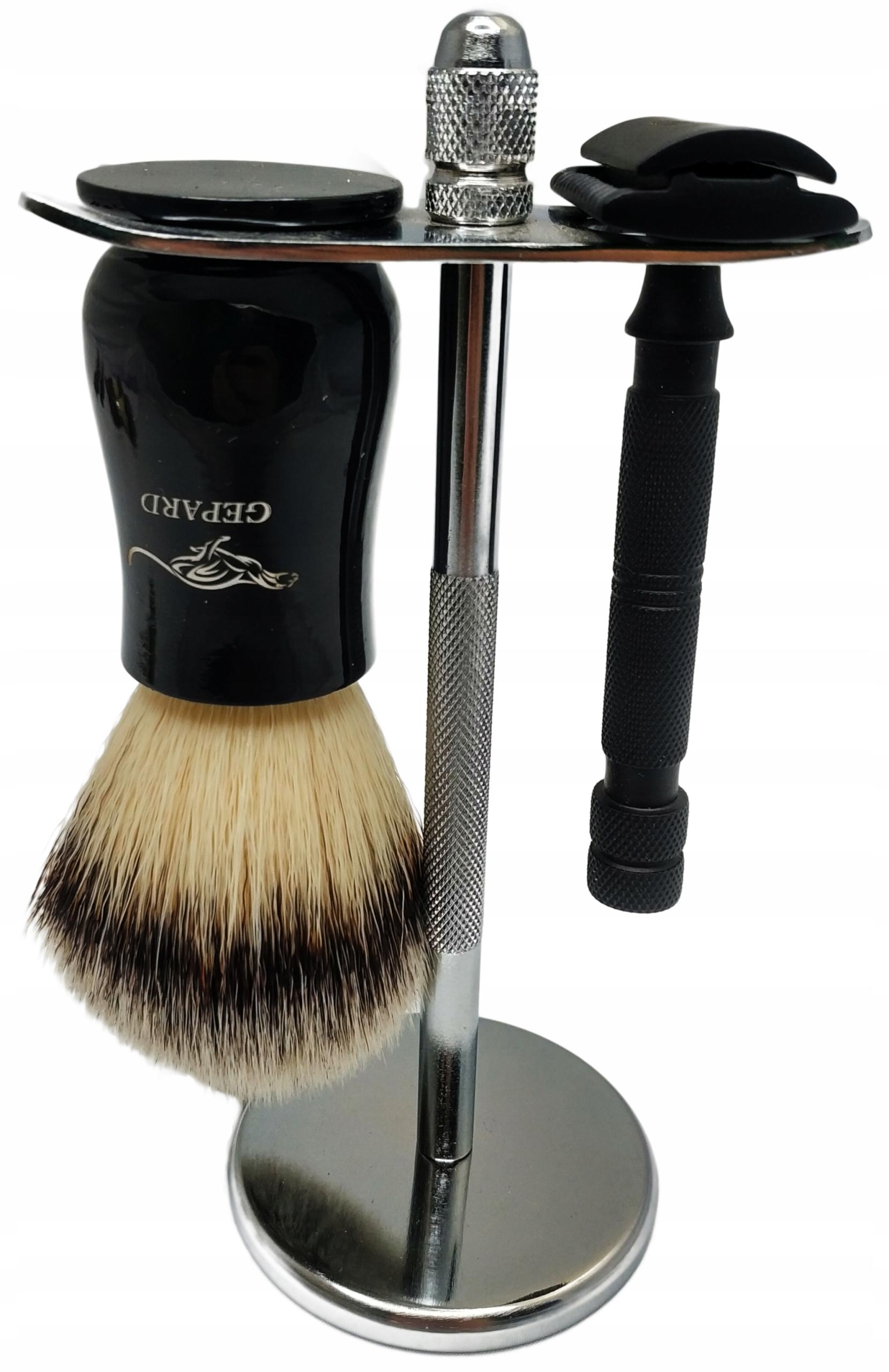 Zestaw Do Golenia Maszynka Pędzel Stojak Barber 12