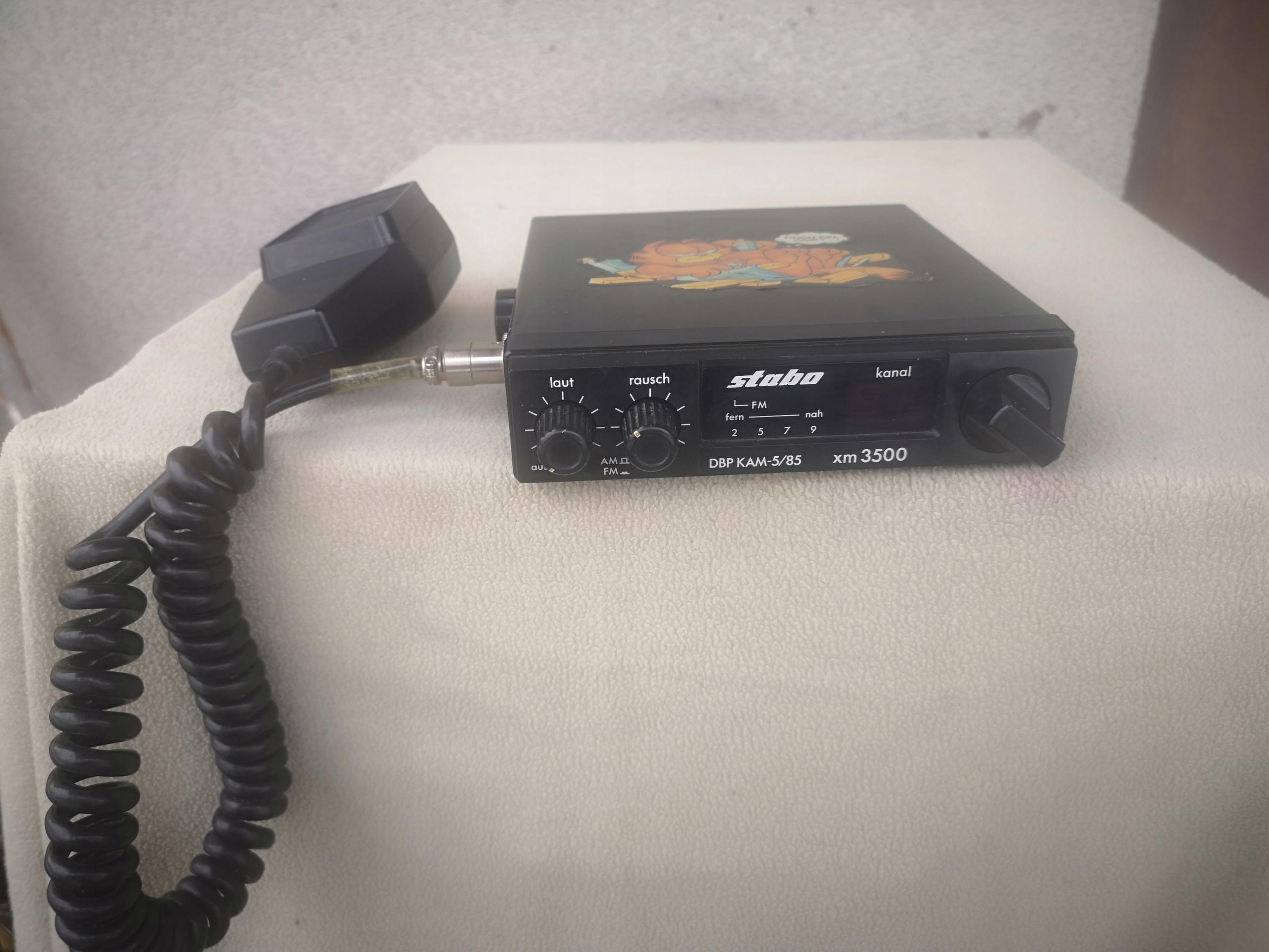 cb radio stabo xm 3500 made in japan bcm
