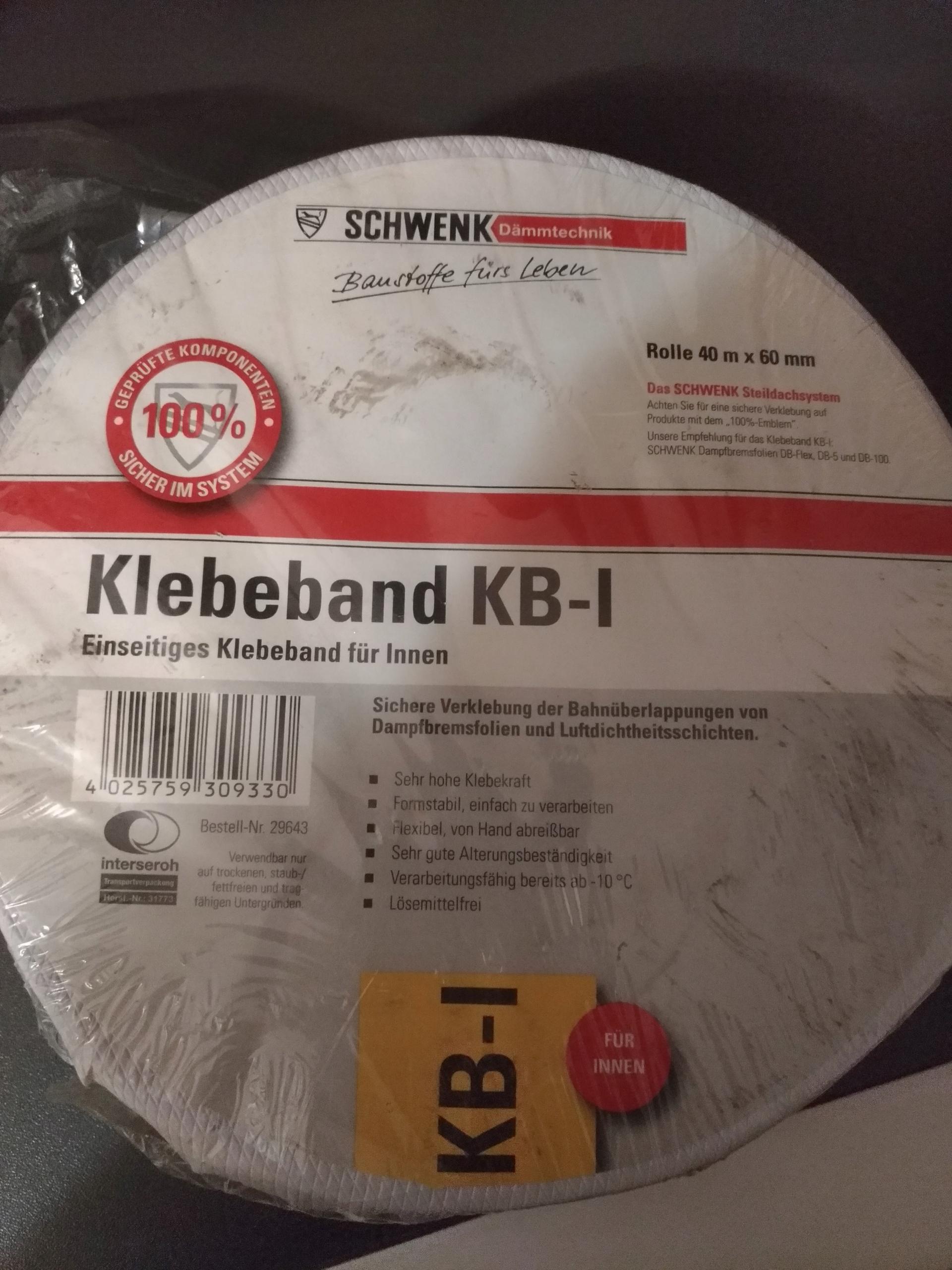 Taśma do folii paroizolacyjnej Schwenk Isover KB1