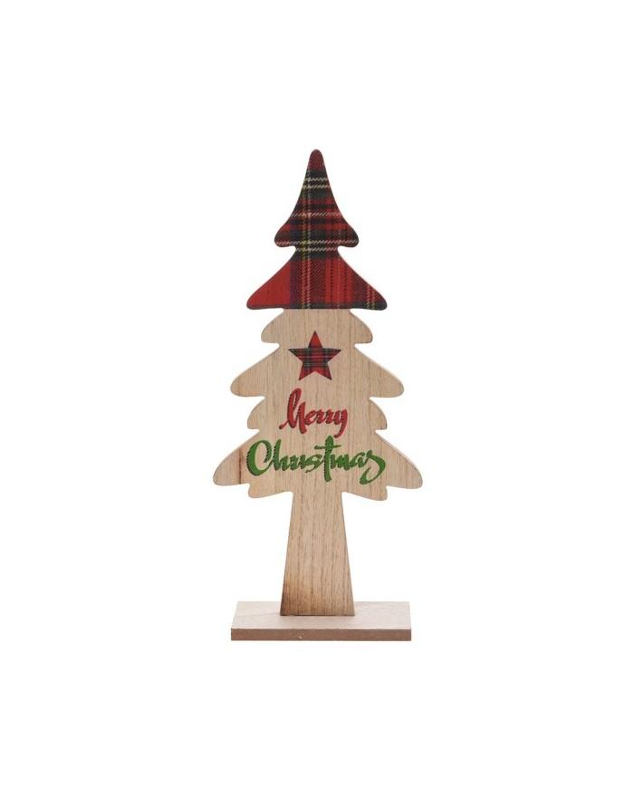 Choinka Drewniana Świąteczna Krata wzór 2