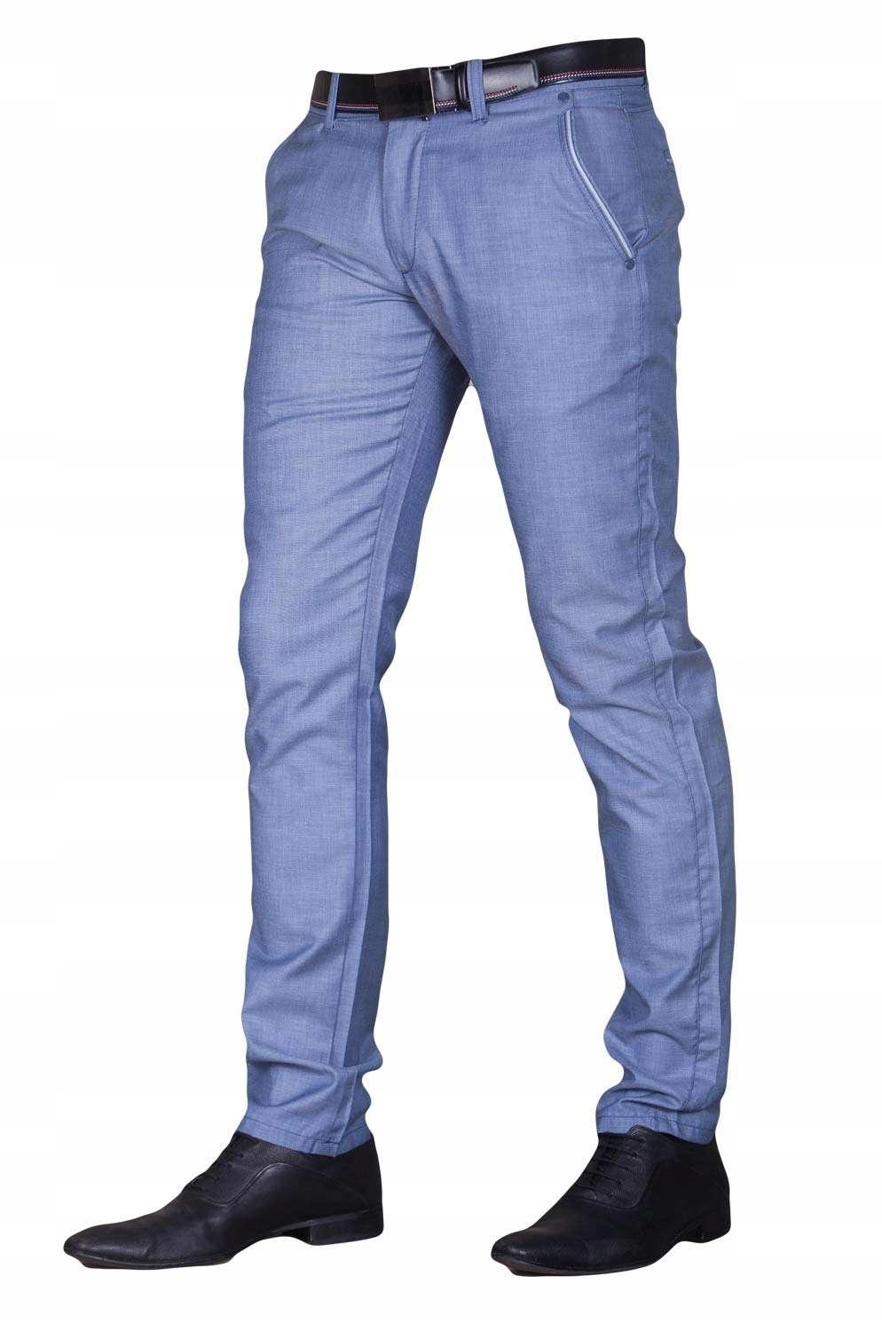 0853a994f7351 Spodnie indygo cienkie 1710 fashionmen2 rozm. 38 - 7314406001 - oficjalne  archiwum allegro