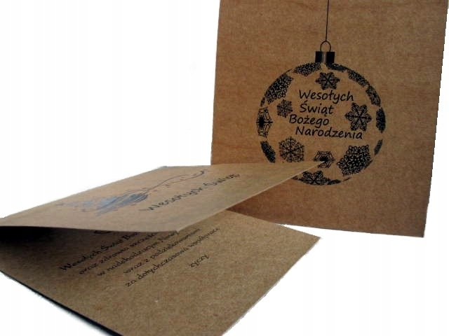 Kartki świąteczne firmowe logo Boże Narodzenie EKO