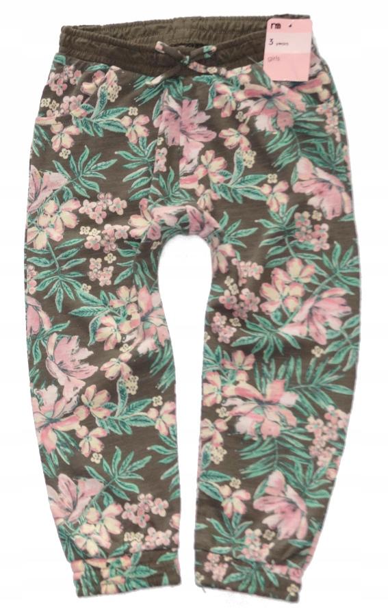 MOTHERCARE spodnie w kwiaty haremki lato NEW 98