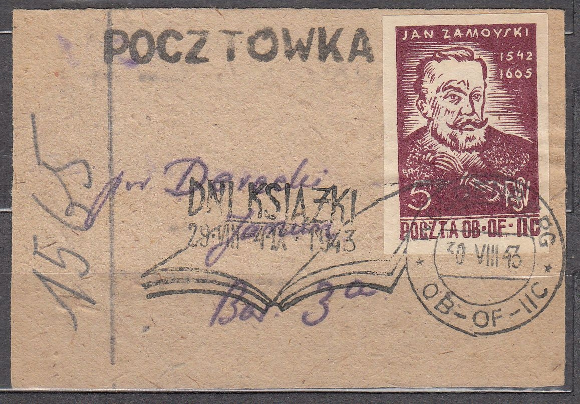 Woldenberg Pocztówka Dni ksiązki Fi 22 1943 W3