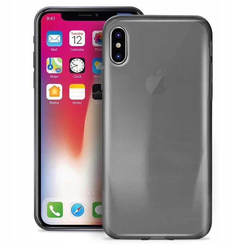 PURO Etui iPhone X/Xs (czarny przezroczysty) - 0.3