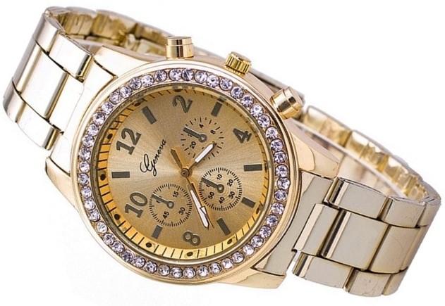 Damski Złoty Zegarek GENEVA Swarovski Bloger ZN38