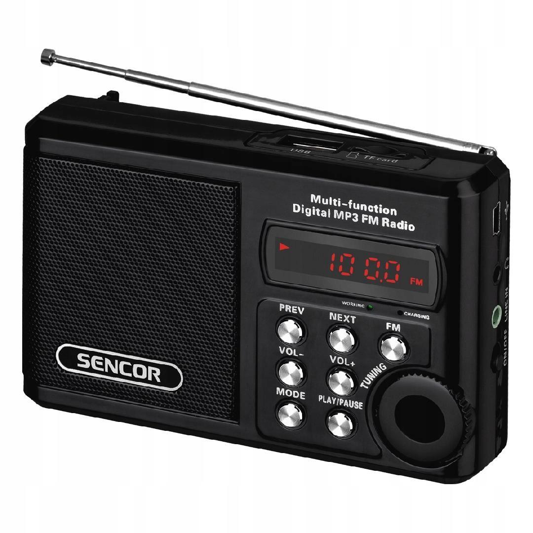 SRD 215 B KIESZONKOWE RADIO Z MP3,USB,SLOT NA.