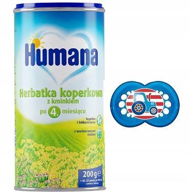 Humana Herbatka koperkowa z kminkiem 200g +smoczek