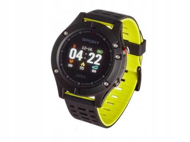 Czarno-zielony Smartwatch GARETT Sport 25 GPS