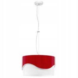 Żyrandol Lampa wisząca AKIRA 40cm metal biały/czer