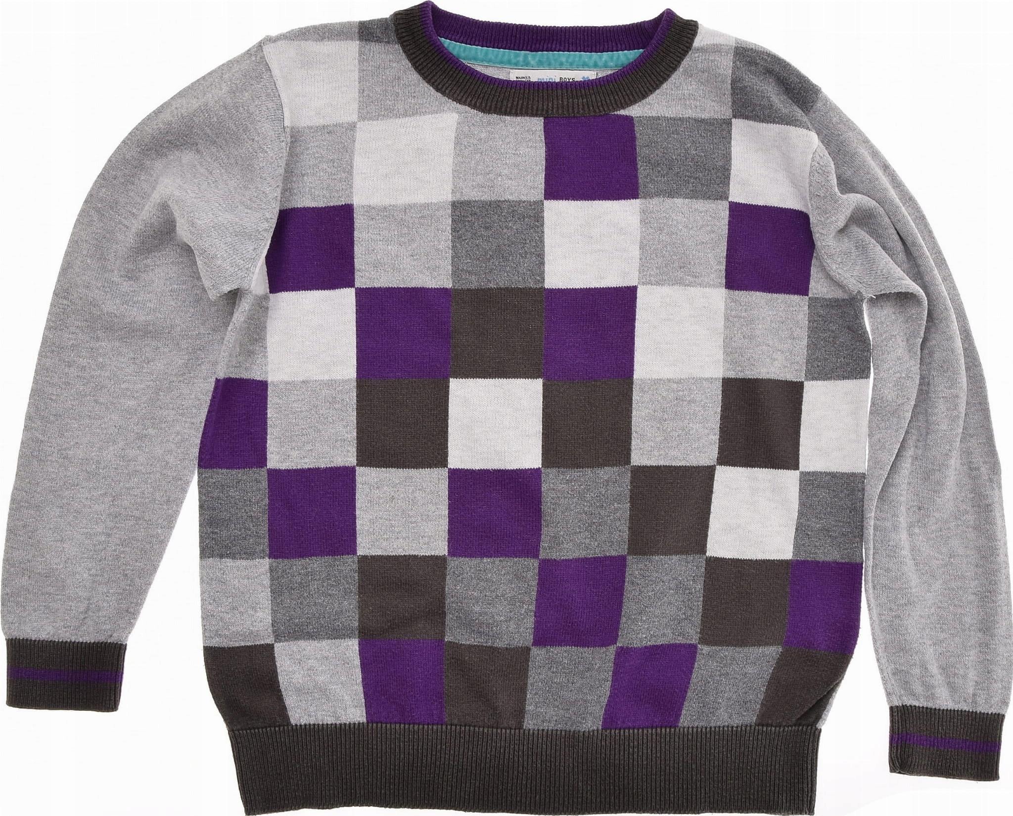 M&S sweterek chłopięcy w Kwadraty SUPER 116