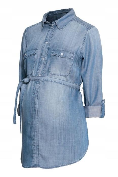 koszula jeansowa ciążowa H&M mama S