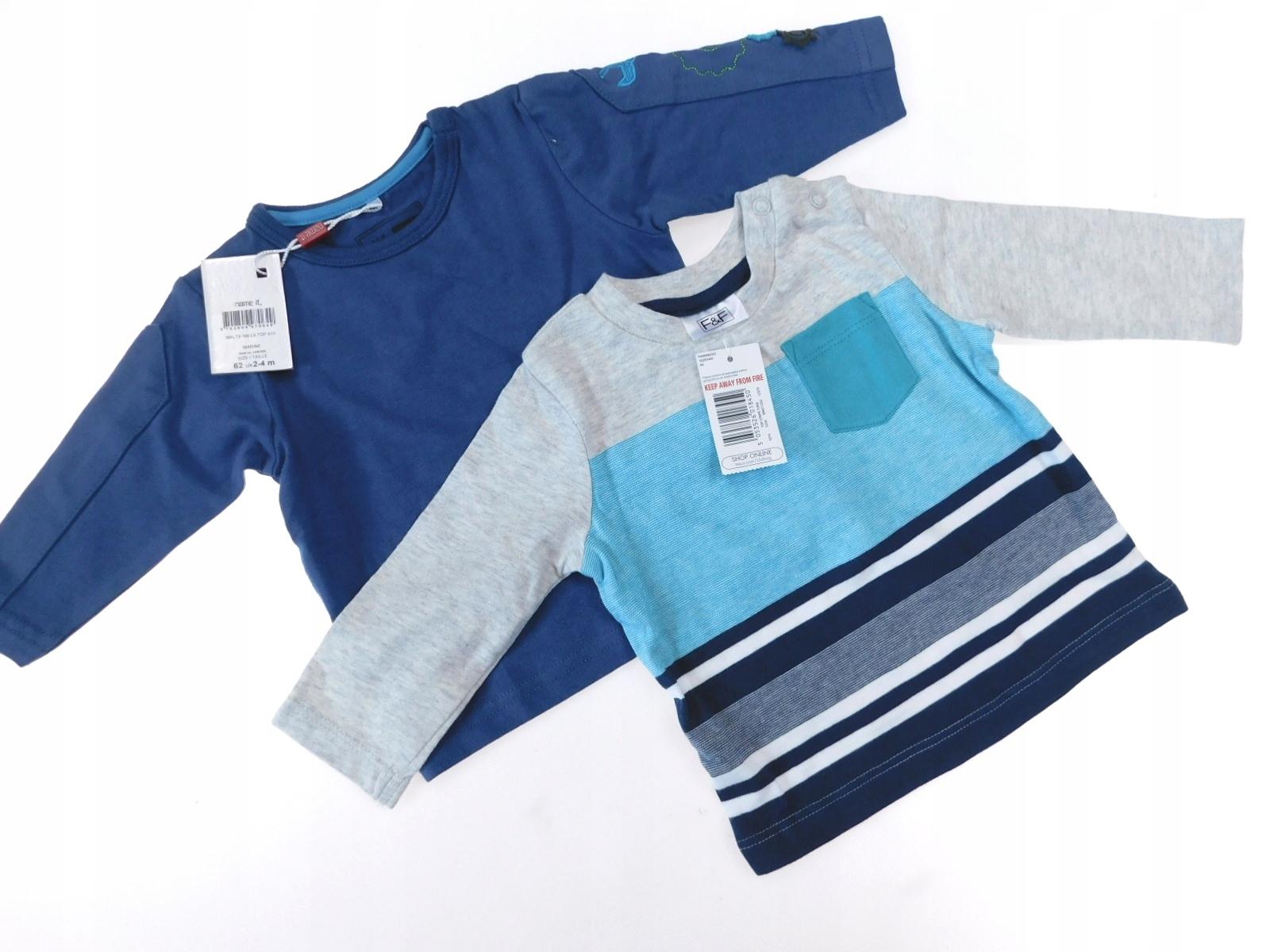 zestaw nowe bluzki bawełna name i ff _ 62