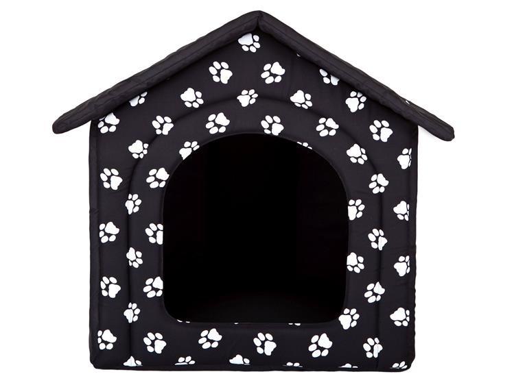 Buda dla psa  70x60x63 cm Czarna w łapki