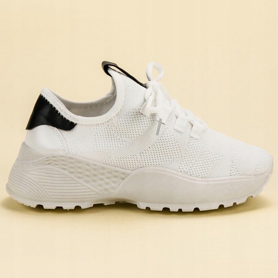 Białe Tekstylne Buty Sportowe Vices r.36