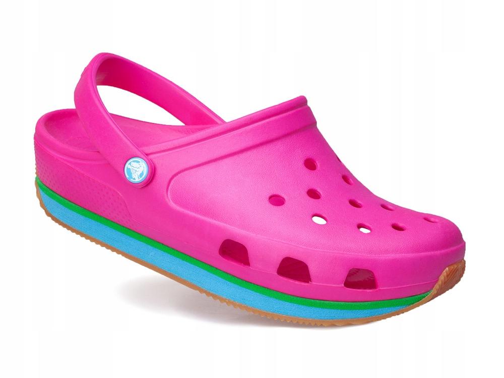 Dziewczęce buty klapki CROCS różowe 14006-6Y5