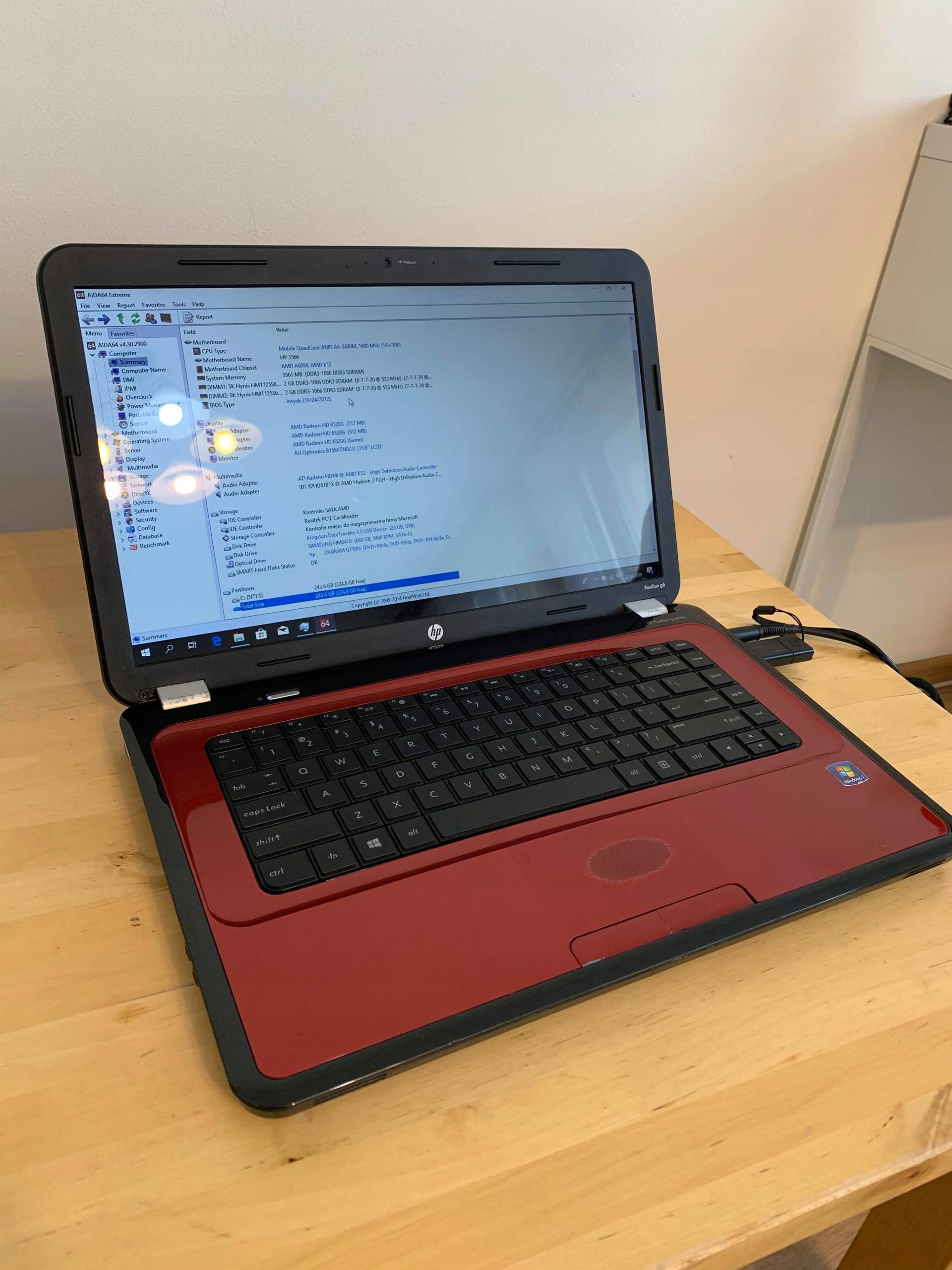 Laptop HP Pavilion G6 AMD A6/4Gb/640Gb/Radeon 15,6 - 8022097070